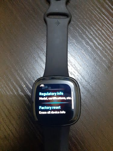 how to reset Fitbit Versa 3